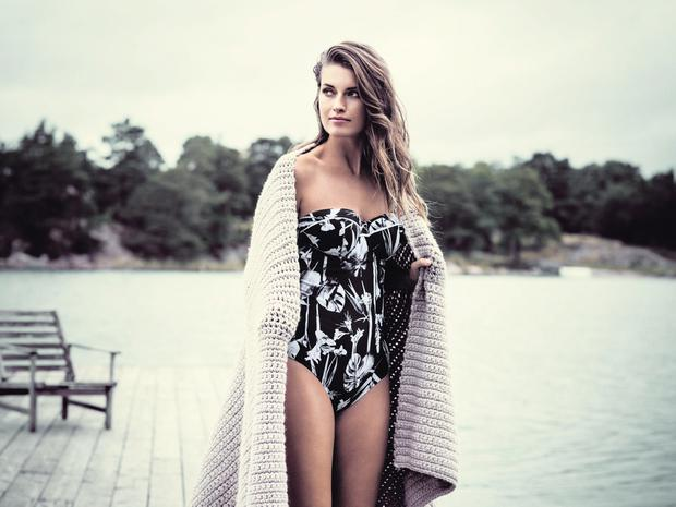 'Cocoa Island' bandeau one-piece, €119, Fanatsie at Arnotts