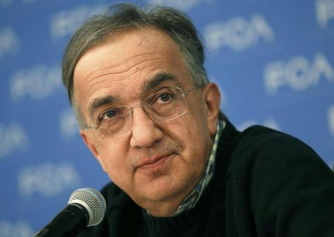 Fiat Chrysler Automobiles CEO Sergio Marchionne listens during the North American International Auto Show in Detroit, Michigan, US, January 9, 2017. REUTERS/Rebecca Cook