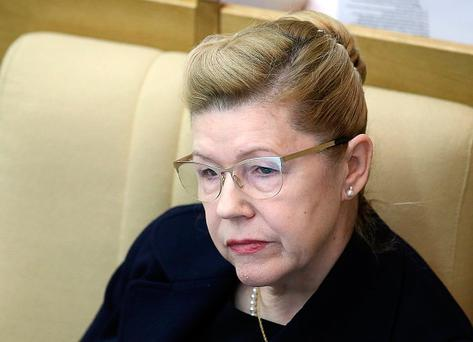 Russian Federation Council member Yelena Mizulina attends the opening plenary meeting of the 2017 Russian State Duma spring session. Stanislav Krasilnikov/TASS (Photo by Stanislav Krasilnikov\TASS via Getty Images)