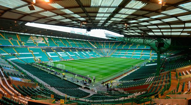 GLASGOW, SCOTLAND - OCTOBER 19: A general view of the stadium prior to kickoff during the UEFA Champions League group C match between Celtic FC and VfL Borussia Moenchengladbach at Celtic Park on October 19, 2016 in Glasgow, Scotland. (Photo by Mark Runnacles/Getty Images)