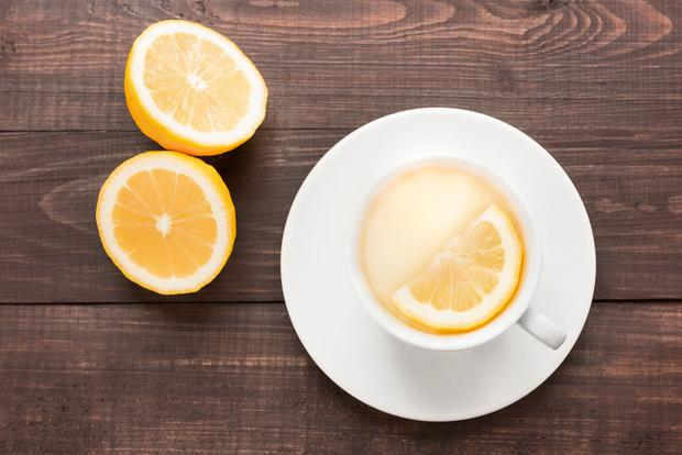 Boost: Start the day with a glass of warm lemon water