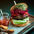 Satisfying: Gareth Mullins' 'Nutri Burger' available at The Marker Hotel, Dublin
