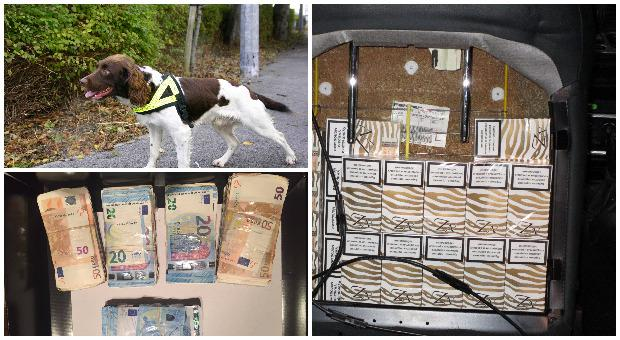 Gardai and revenue have seized significant amounts of cash and illegal cigarettes in two separate operations.