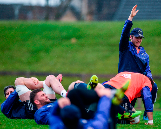 The Munster squad during training Photo: Diarmuid Greene/Sportsfile