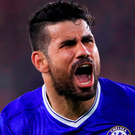Diego Costa has been dropped from Chelsea's encounter with Leicester City Photo: John Walton/PA Wire