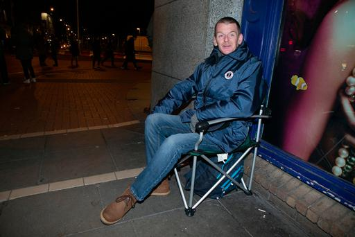 Vincent Kearns pictured on Friday evening outside Stephens Green Shopping Center.
