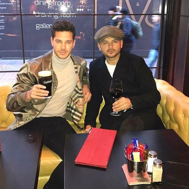 Former Corrie star Ryan Thomas (right) and his brother Scotty (left)