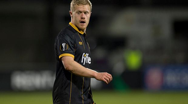 Daryl Horgan of Dundalk pictured during the UEFA Europa League Group D match between Dundalk FC and AZ Alkmaar at Tallaght Stadium in Dublin, Ireland on November 24, 20016 (Photo by Andrew Surma/NurPhoto via Getty Images)