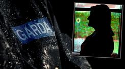 The garda scandal began when the woman (inset) accused a serving garda of rape