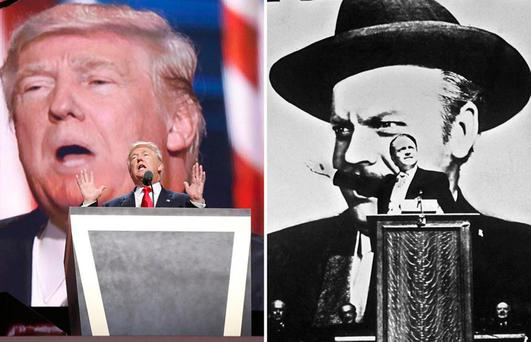 Notice any similarities? Donald Trump has said that Orson Welles's 1941 film 'Citizen Kane' is his all-time favourite movie