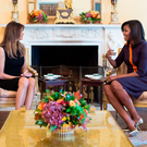 One lump or two? Melania Trump and Michelle Obama met for tea in the White House in the days following Donald Trump's election victory Photo: Chuck Kennedy/The White House