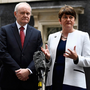 More Brothers Grim than Chuckle Brothers: Martin McGuinness and Arlene Foster, Deputy First Minister and First Minister of Northern Ireland, speaking to journalists as they left Number 10 Downing Street last October Photo: Dylan Martinez/Reuters
