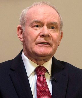 Former Deputy First Minister Martin McGuinness Photo: PA