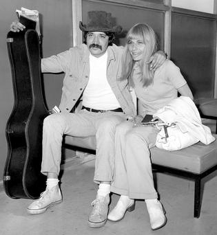 INSPIRATION: Peter Sarstedt with his first wife Anita Atke. Photo: PA Wire