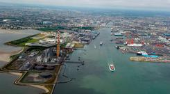 Irish ways: Dublin Port and Ringsend, where the proposed film studios would be built