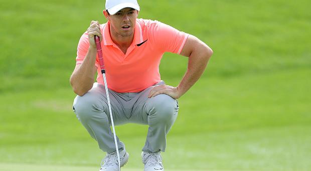 JOHANNESBURG, SOUTH AFRICA - JANUARY 15: Rory McIlroy of Northern Ireland lines up a putt on the 2nd hole during day four of the BMW South African Open Championship at Glendower Golf Club on January 15, 2017 in Johannesburg, South Africa. (Photo by David Cannon/Getty Images)