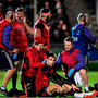 14 January 2017; Conor Murray of Munster is treated for an injury during the European Rugby Champions Cup pool 1 round 5 match between Glasgow Warriors and Munster at Scotstoun Stadium in Glasgow, Scotland. Photo by Stephen McCarthy/Sportsfile