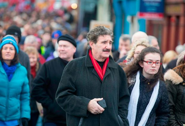 John Halligan TD pictured at the march. Picture: Patrick Browne