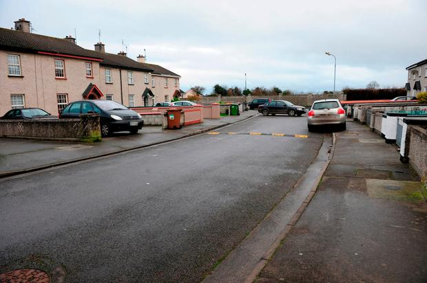 McAuley Drive, Birr, Co Offaly, where a man was seriously assaulted. Photo: James Flynn