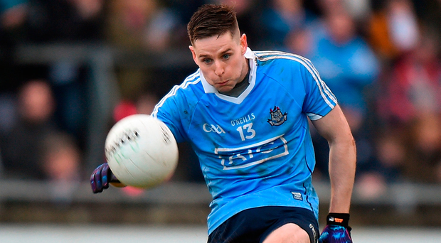 Paul Hudson's tally of 0-8 helped Dublin hold off a strong Wexford challenge in this O'Byrne Cup game at St Patrick's Park, Enniscorthy yesterday. Photo: Sportsfile