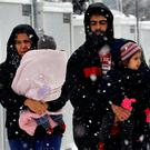 Stranded Syrian refugees at a camp near Athens, Greece. Some 240 Syrians are to be temporarily housed in the Roscommon town of Ballaghaderreen Photo: Yannis Behrakis / Reuters
