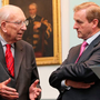 TK Whitaker with Taoiseach Enda Kenny in 2011 Photo: Maxwells