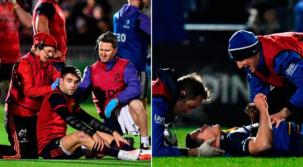 Conor Murray and Johnny Sexton suffered head injuries over the weekend