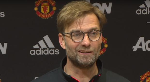 Jurgen Klopp wasn't impressed by the chairs at Old Trafford