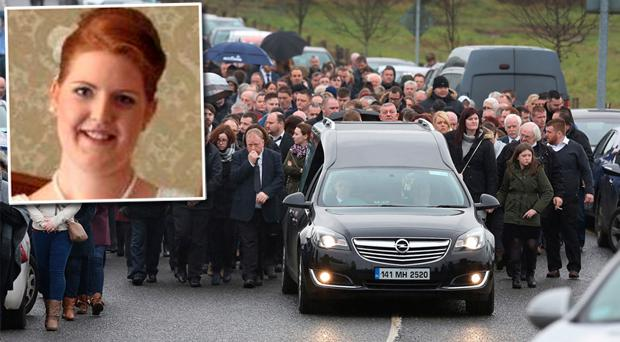The funeral of Emma O'Keeffe (inset) took place in Meath. Photo: Frank McGrath