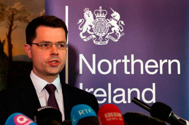 Northern Ireland Secretary James Brokenshire speaking in Stormont House, Belfast where he called a snap Stormont Assembly election for March 2. Photo: Niall Carson/PA Wire