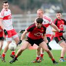 Alan Davidson in action for Down against Derry in Sunday's McKenna Cup clash at Newry. Photo: © Matt Mackey / Press Eye