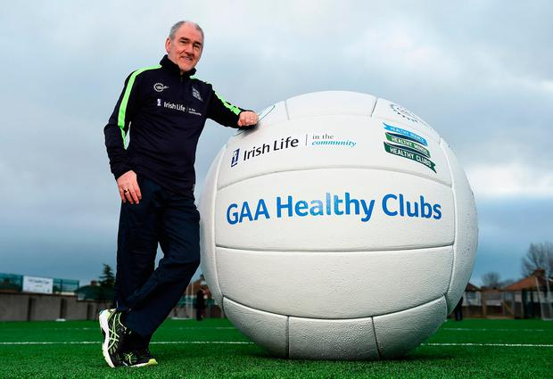 Mickey Harte, pictured at yesterday's launch of the GAA Healthy Clubs initiative, insists inter-county players set their own standards. Photo by Cody Glenn/Sportsfile