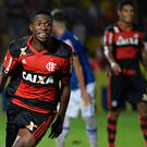 OSASCO, BRAZIL - JANUARY 15: Vinicius Junior of Flamengo celebrates after scoring during a match between Cruzeiro and Flamengo as part of round of sixteen of Sao Paulo Junior Cup 2017 at Prefeito José Liberatti Stadium on January 15, 2017 in Osasco, Brazil. (Photo by Levi Bianco/Brazil Photo Press/LatinContent/Getty Images)