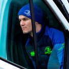 Johnny Sexton watching his Leinster team-mates training at Belfield yesterday. Photo by Seb Daly/Sportsfile