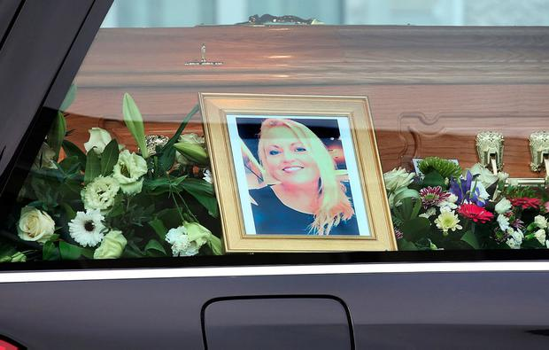 Morocco road victim, mother of two Yvonne Slaughter, whose funeral took place yesterday. Photo: Steve Humphreys