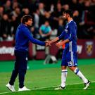 Antonio Conte and Diego Costa are in dispute over the striker's future Picture: PA