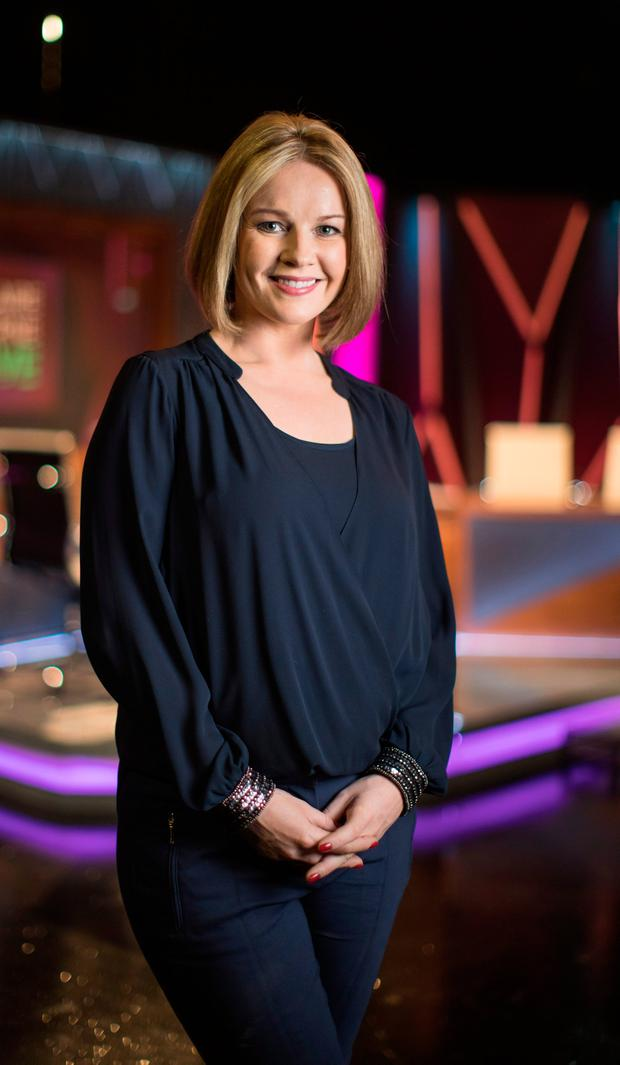 RTE star Claire Byrne, on the set of Claire Byrne Live. 16/1/2017 Picture Fergal Phillips