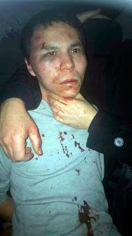 Reina club attacker after being caught by Turkish police in Istanbul, late Monday, Jan. 17., 2017. (Depo Photos via AP)
