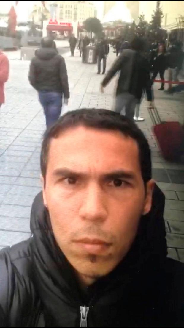 FILE PHOTO - A frame grab made from a video which was distributed by Turkish police and released on January 3, 2017, shows a man, the suspected gunman behind the attack at Reina nightclub, taking a selfie in Istanbul. Photo: TPX images of the day