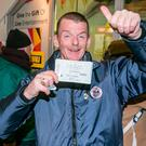 Vincent Kearns with his tickets. Photo: Kyran O'Brien