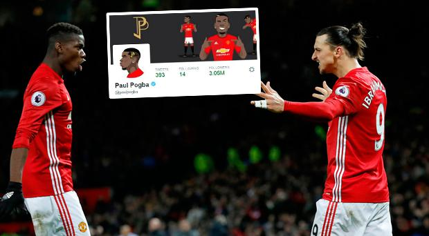 Zlatan with Pogba after draw against Liverpool