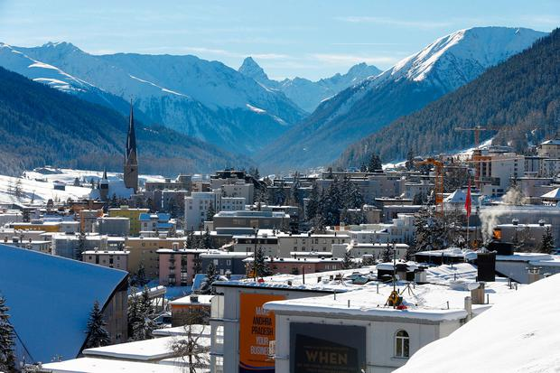 FILE PHOTO: A general view of Davos during the annual meeting of the World Economic Forum (WEF) in Davos, Switzerland January 22, 2016. REUTERS/Ruben Sprich/File Photo
