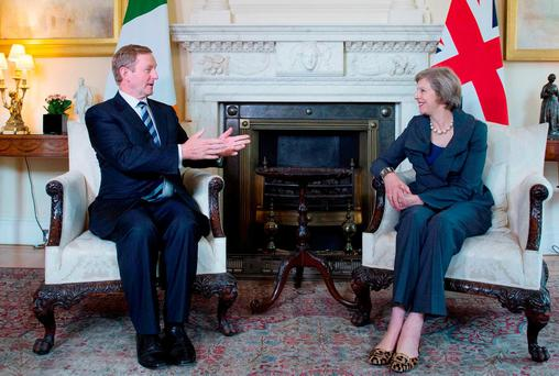 Taoiseach Enda Kenny with UK Prime Minister Theresa May Photo: Stefan Rousseau/PA Wire