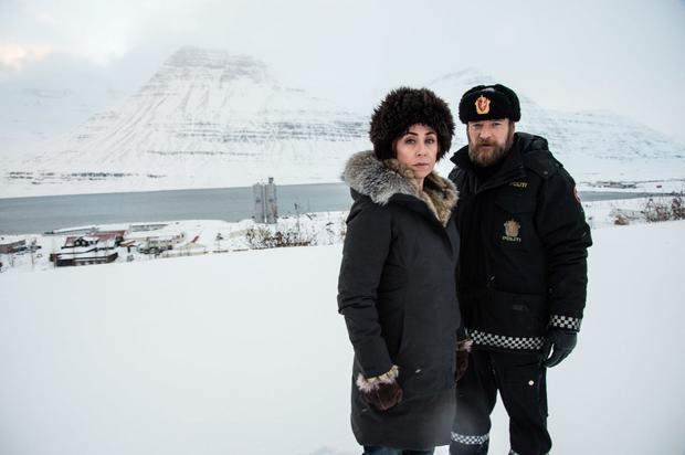 Robert Sheehan and Michelle Fairley in Fortitude. Pic: Sky Atlantic