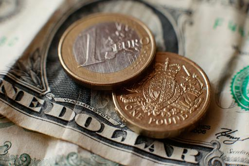 The pound rose as high as 1.145 versus the euro.