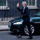 Prime Minister Theresa May arriving back in Downing Street in London, after delivering her speech on Brexit Credit: :Stefan Rousseau/PA Wire