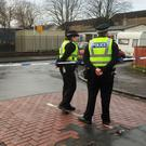 A police cordon near St George's Primary School, Penilee, Glasgow, following a shooting near the school (Photo: PA)