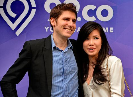 Facebook co-founder Eduardo Saverin (L) and his wife Elaine Andriejanssen (R). Photo credit: ROSLAN RAHMAN/AFP/Getty Images