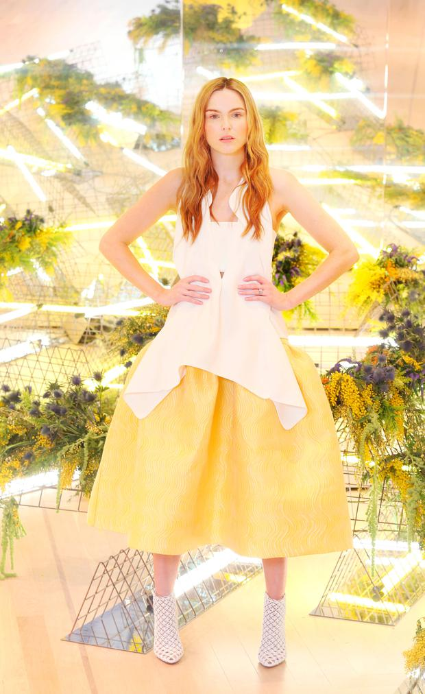 Sarah Morrissey wears Maticevski Top €787, Skirt €2,018 as she showcased the exciting new spring summer International Designer Collections at Brown Thomas. Picture: Leon Farrell / Photocall Ireland