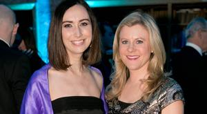 Karina Buckley & Nuala Carey at the BT Young Scientist & Technology Exhibition 2017 Gala Dinner. Picture: Chris Bellew / Fennell Photography